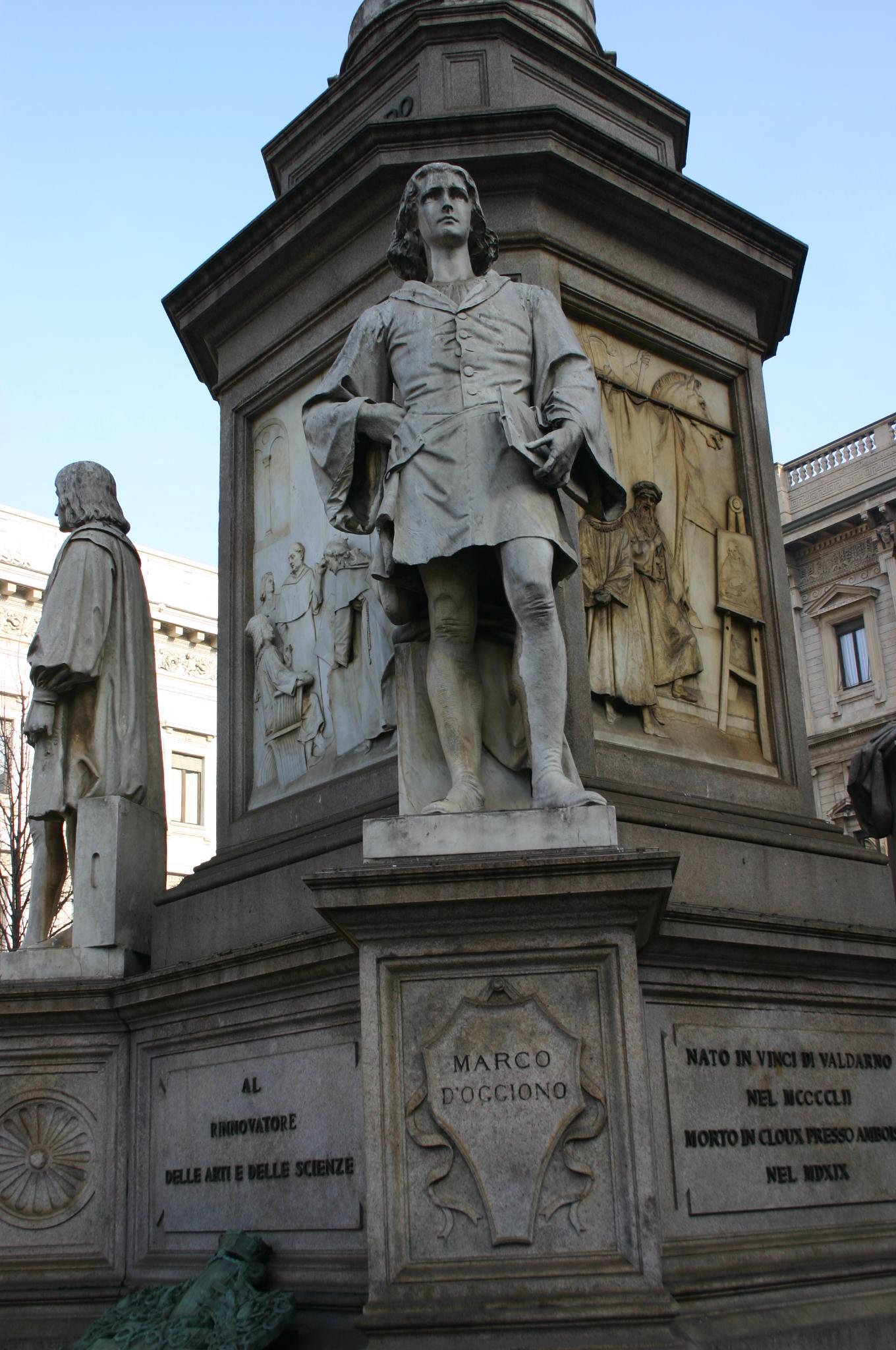 File:IMG 4299 - Milano, Monumento a Leonardo - Marco d\'Oggiono ...
