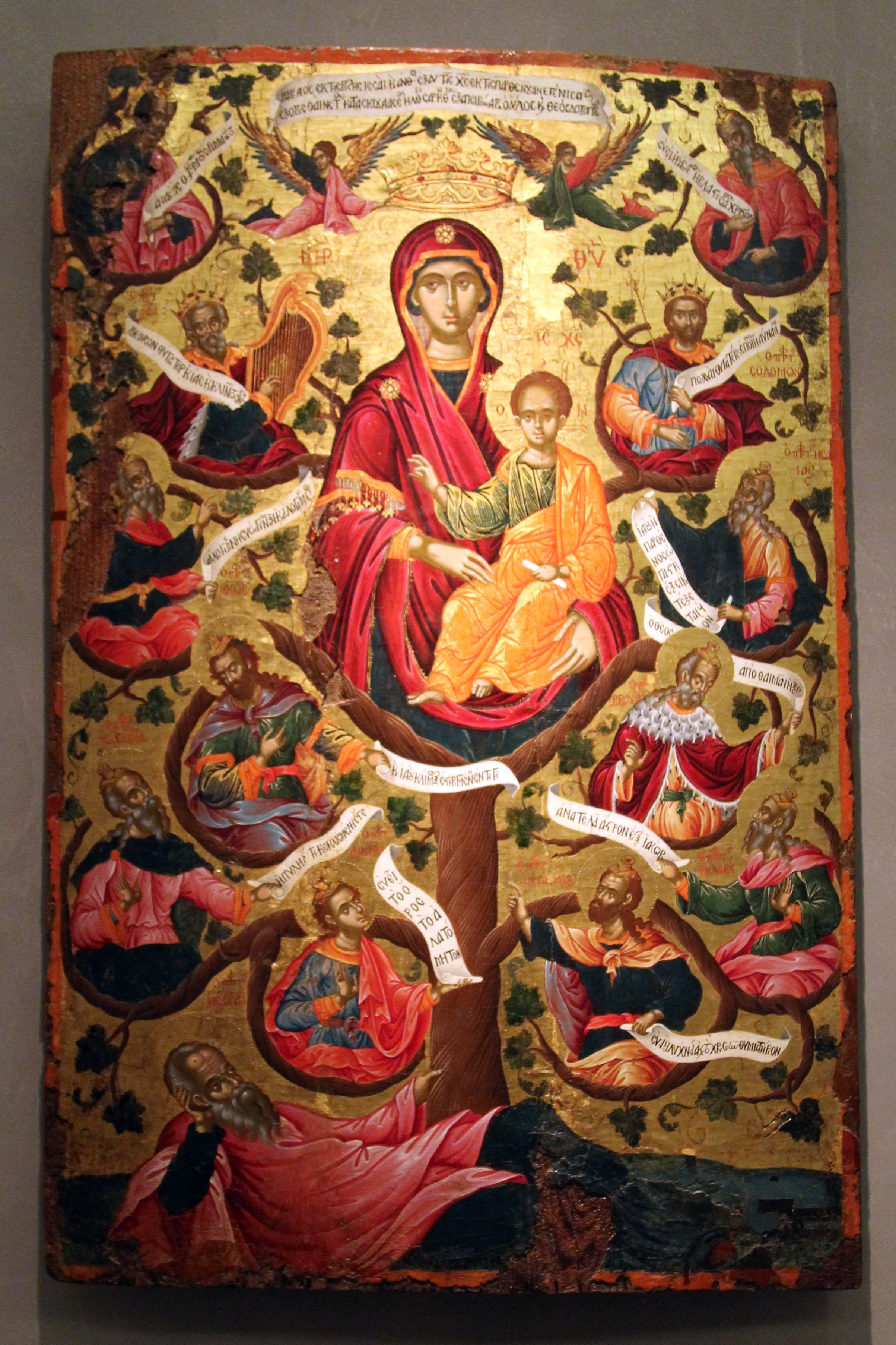 File:Icon with the Virgin of the Tree of Jesse. 1666 (8384481474).jpg ...