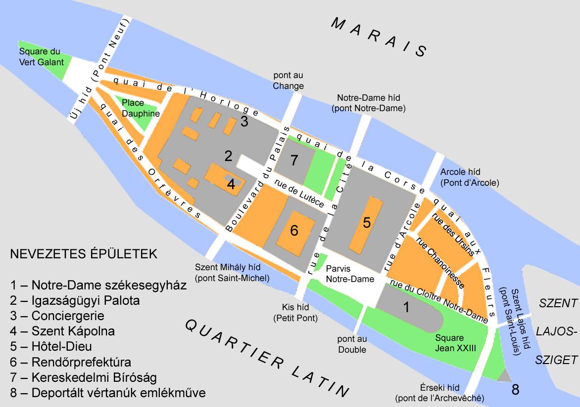 Ile De La Cite Map