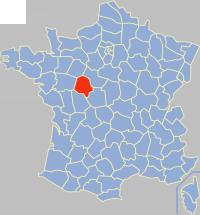 安德尔-卢瓦尔省在法国的位置