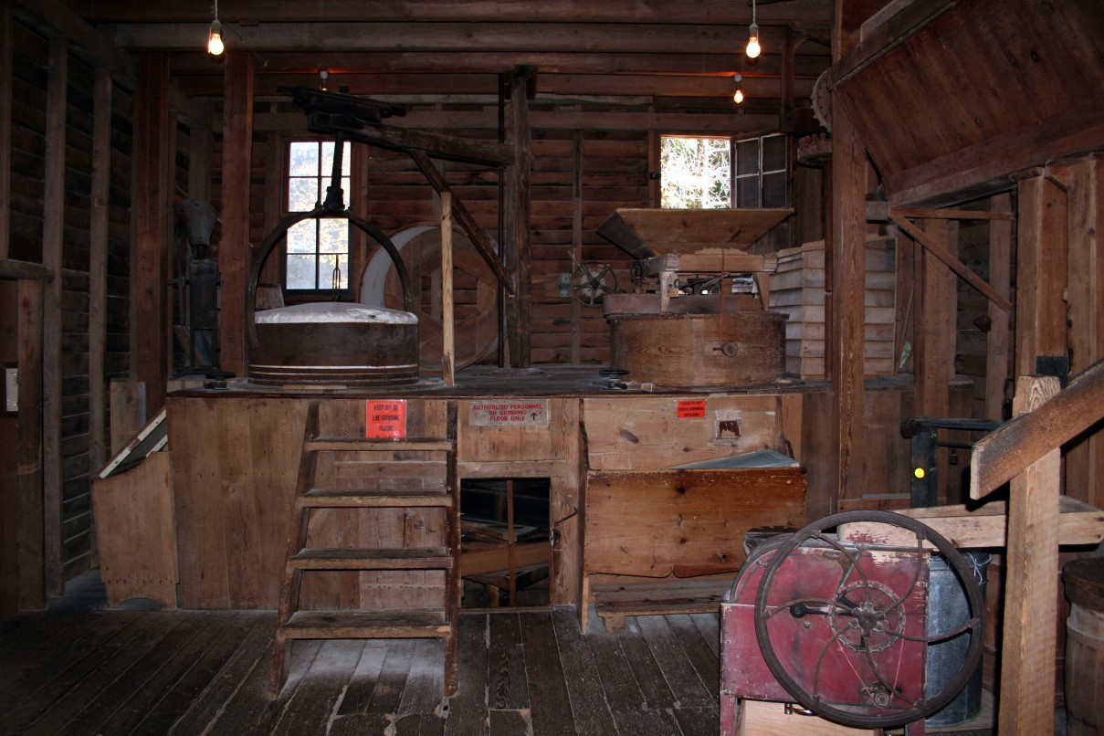 File inside grist mill west virginia for Pictures inside
