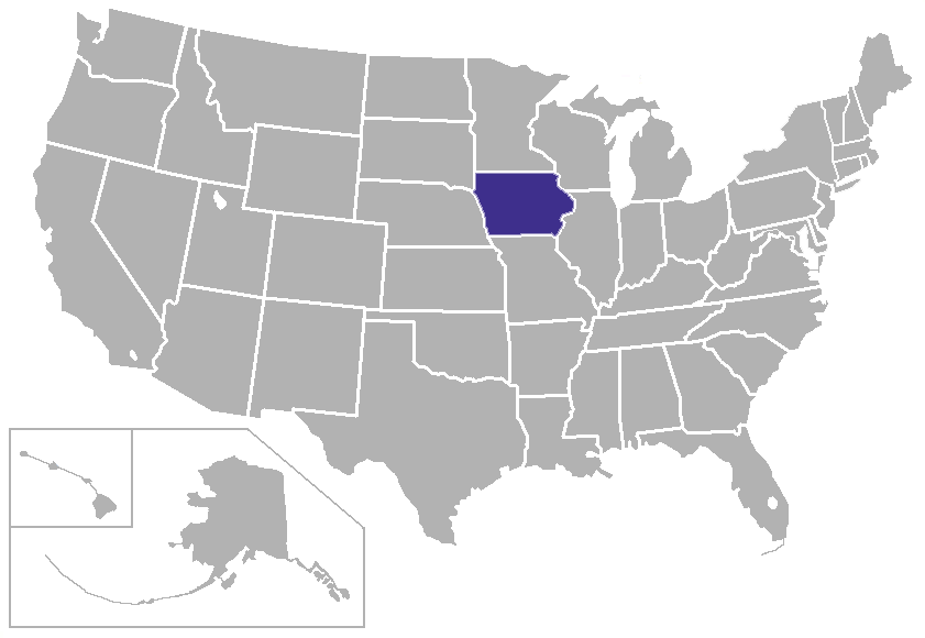 FileIowaUSAstatespng Wikimedia Commons - Iowa usa map