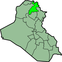 Location of Erbil Governorate