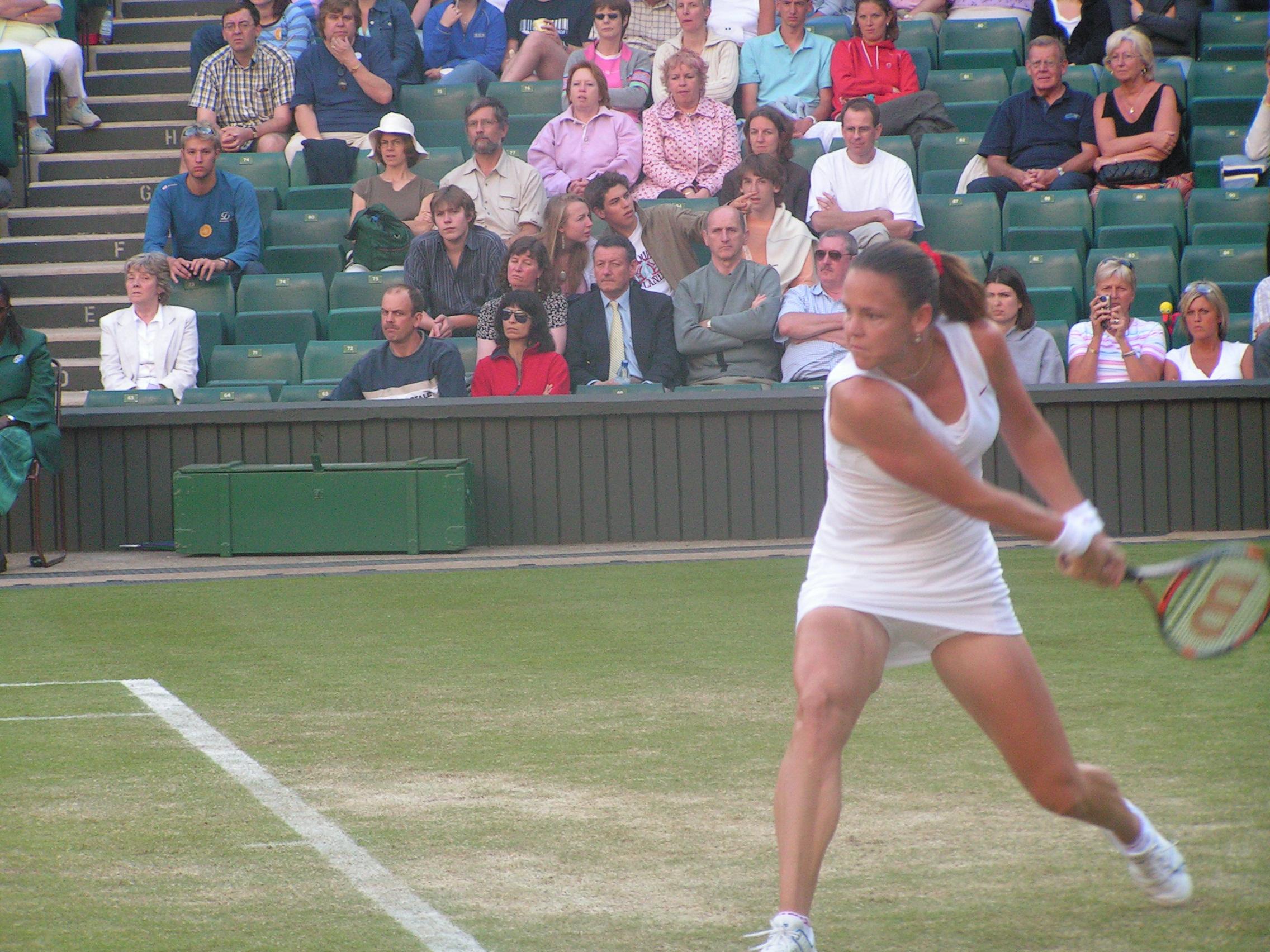 Lindsay Davenport at Wimbledon