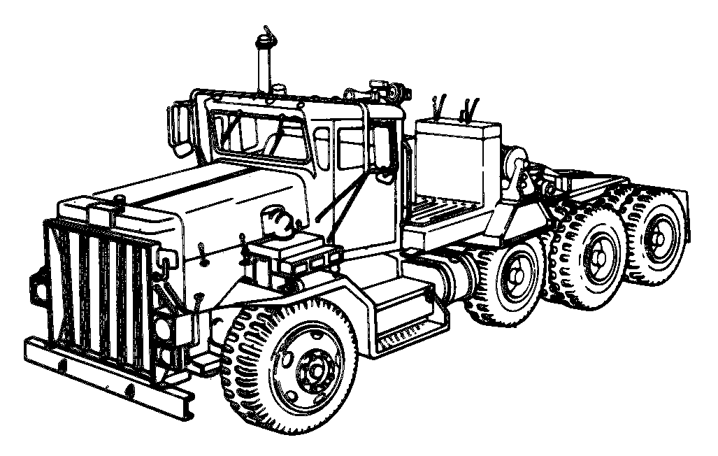 coloring pages tractors trucks - photo#18