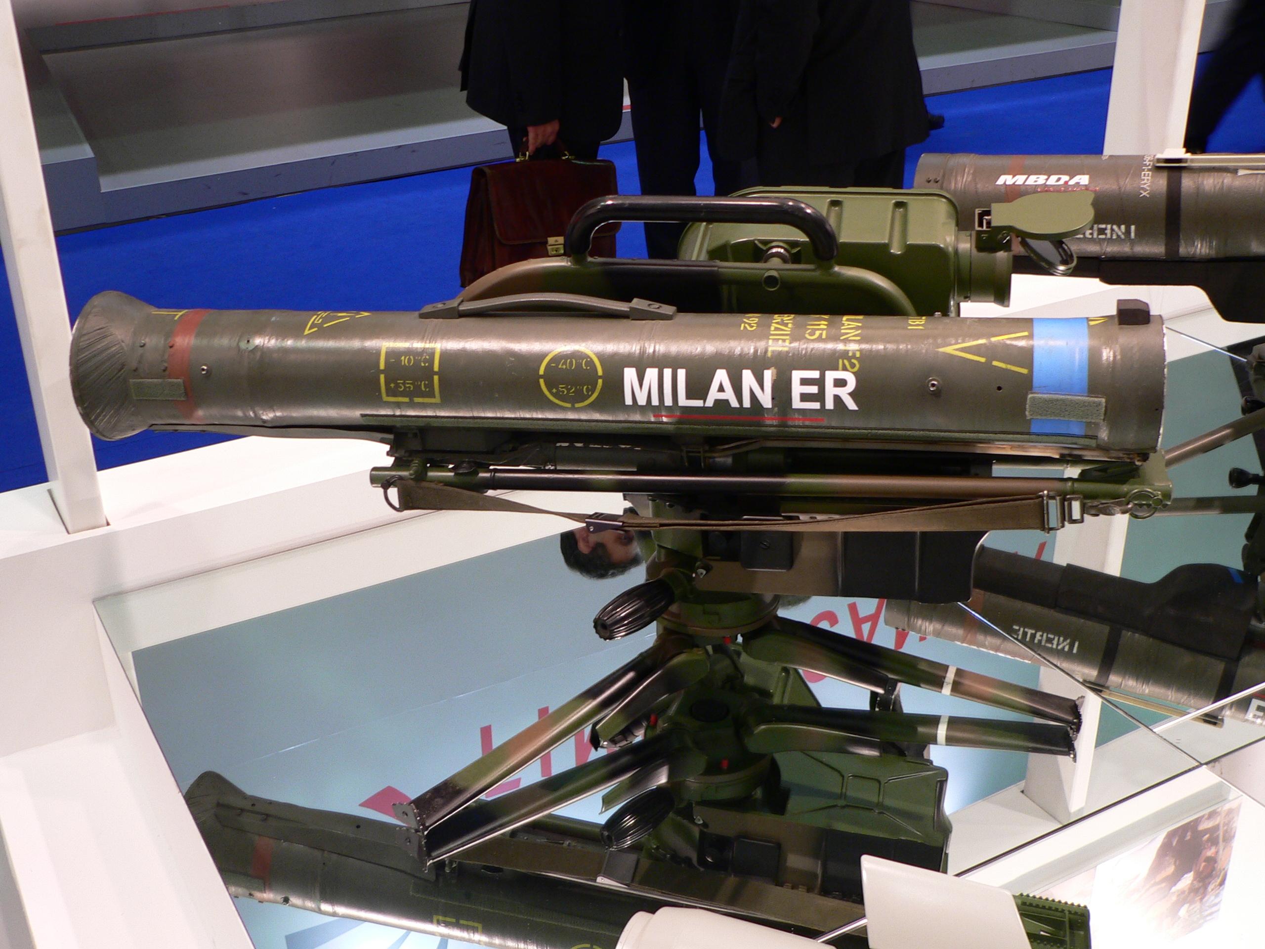 MILAN launch tube markings