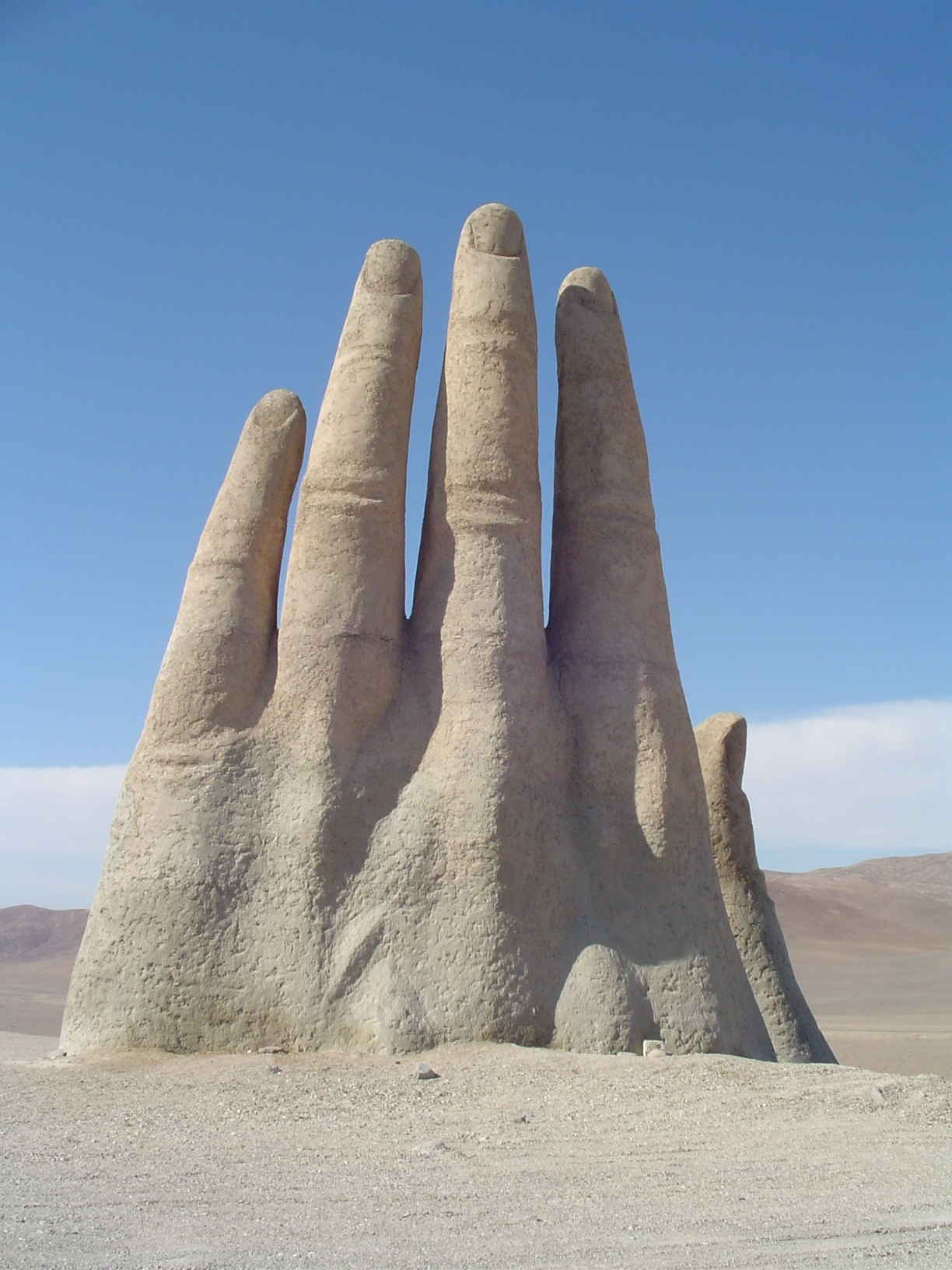 Image result for Hand Of The Desert, Atacama, Chile