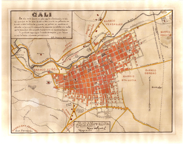 File mapa cali 1880s wikimedia commons for Bares en ciudad jardin cali