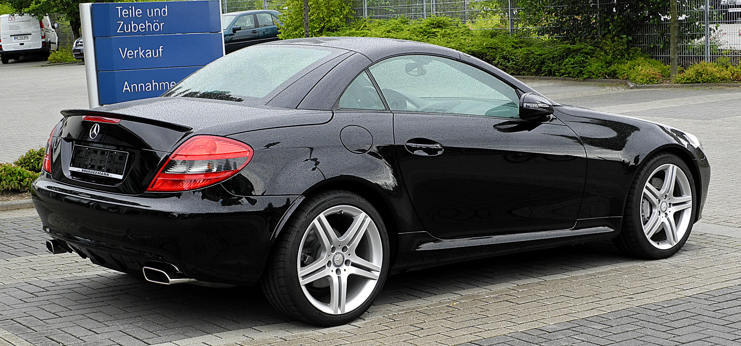 mercedes benz slk 200 kompressor r 171 facelift heckansicht 23 juli 2011 mettmann. Black Bedroom Furniture Sets. Home Design Ideas
