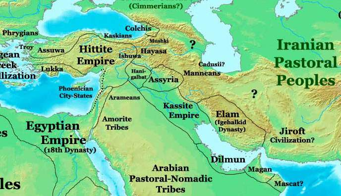 Near East in 1300bc (en)