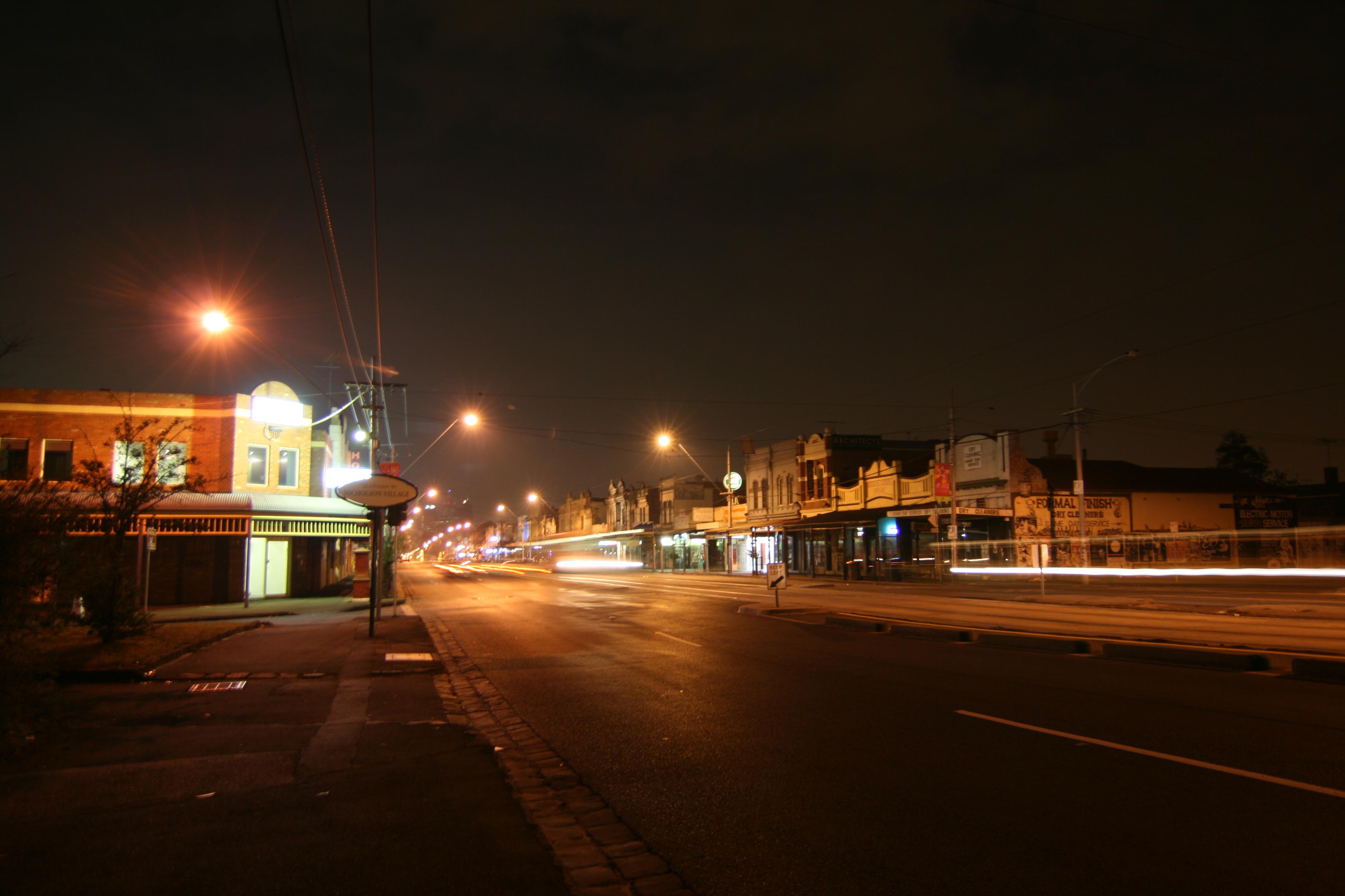city street corner at night - photo #13