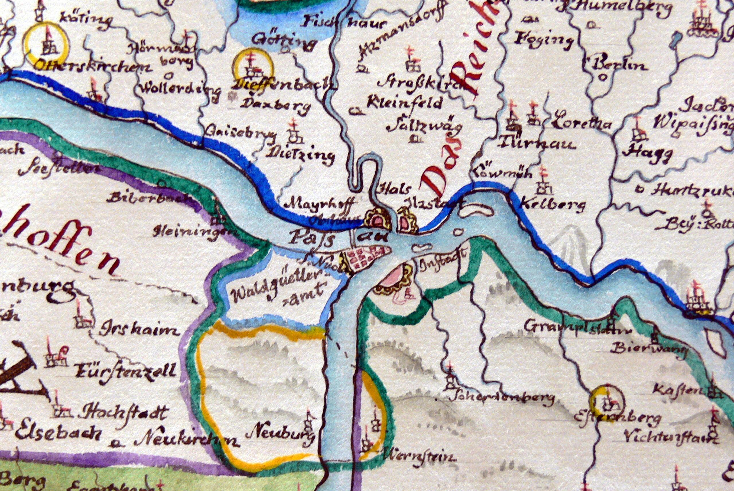 passau karte File:OHM   Karte Bistum Passau 2 Passau.   Wikimedia Commons