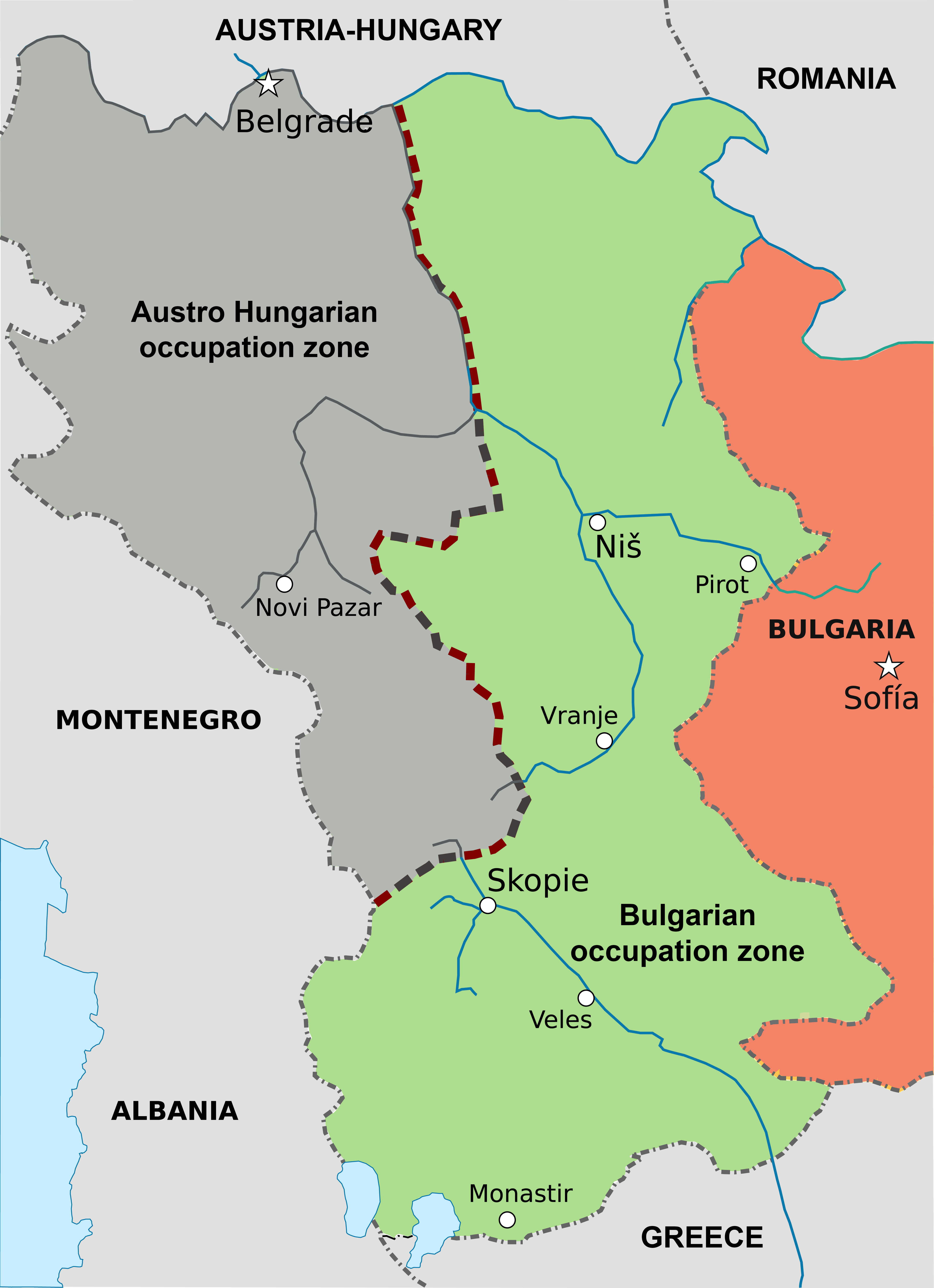 Bulgarian Occupation Of Serbia World War I Wikipedia