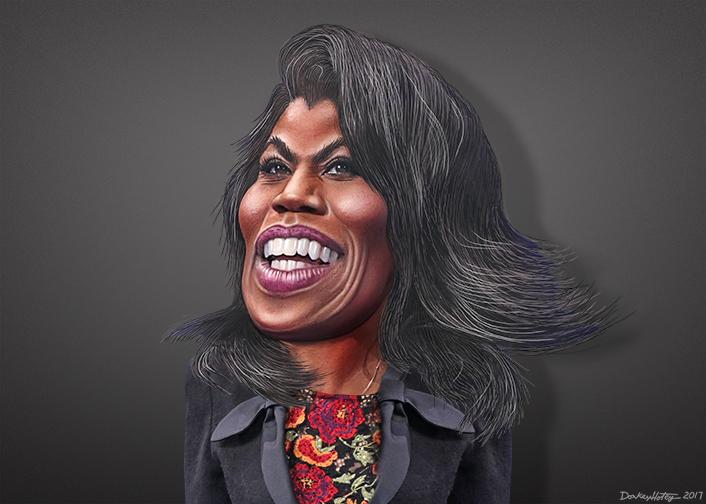 Omarosa Manigault - Caricature (24514517627)