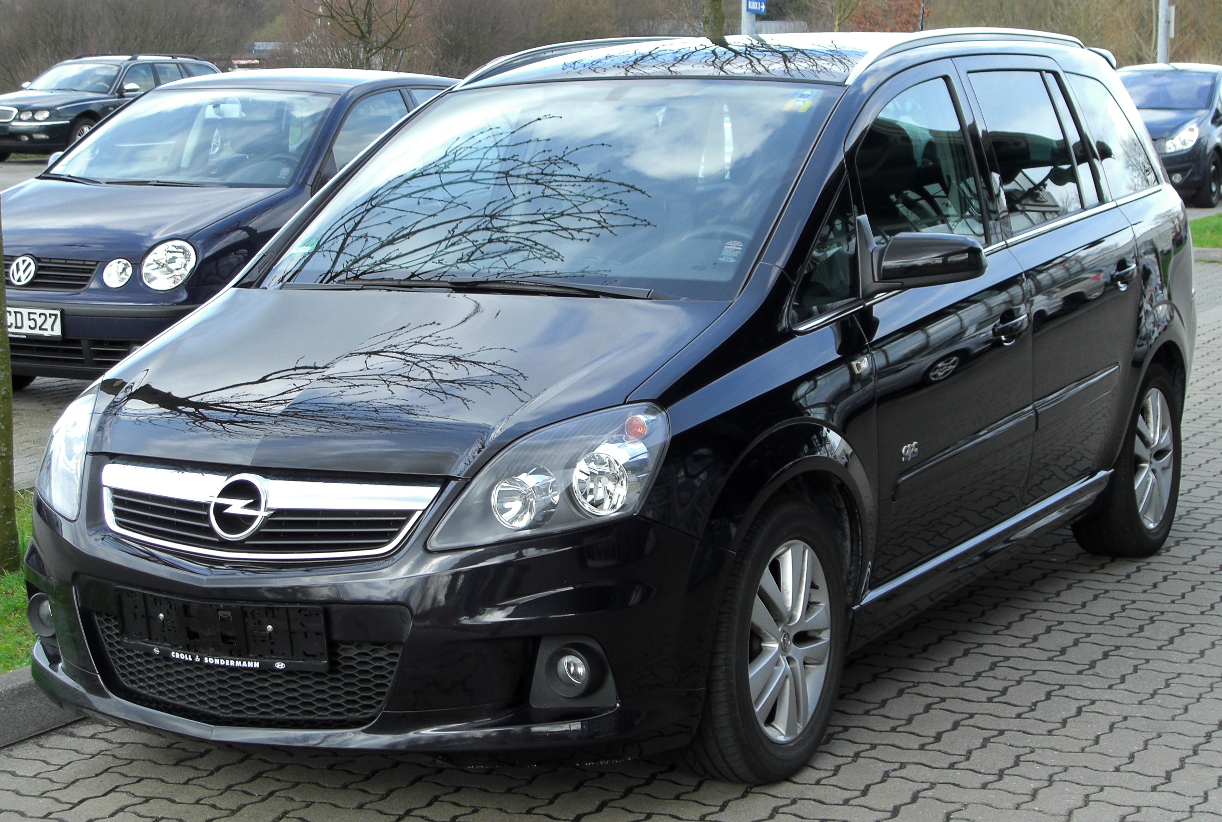 file opel zafira ii facelift opc line front wikimedia commons. Black Bedroom Furniture Sets. Home Design Ideas