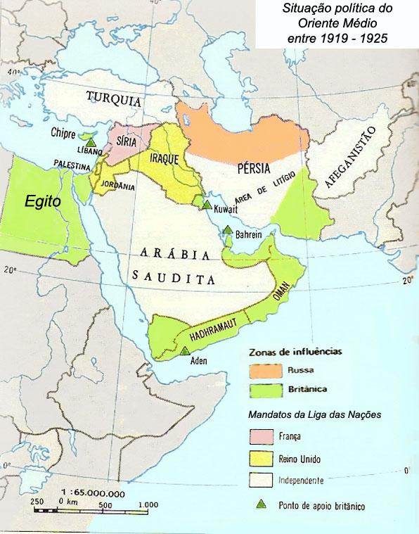 Mappa Muta Gratuita Medio Oriente