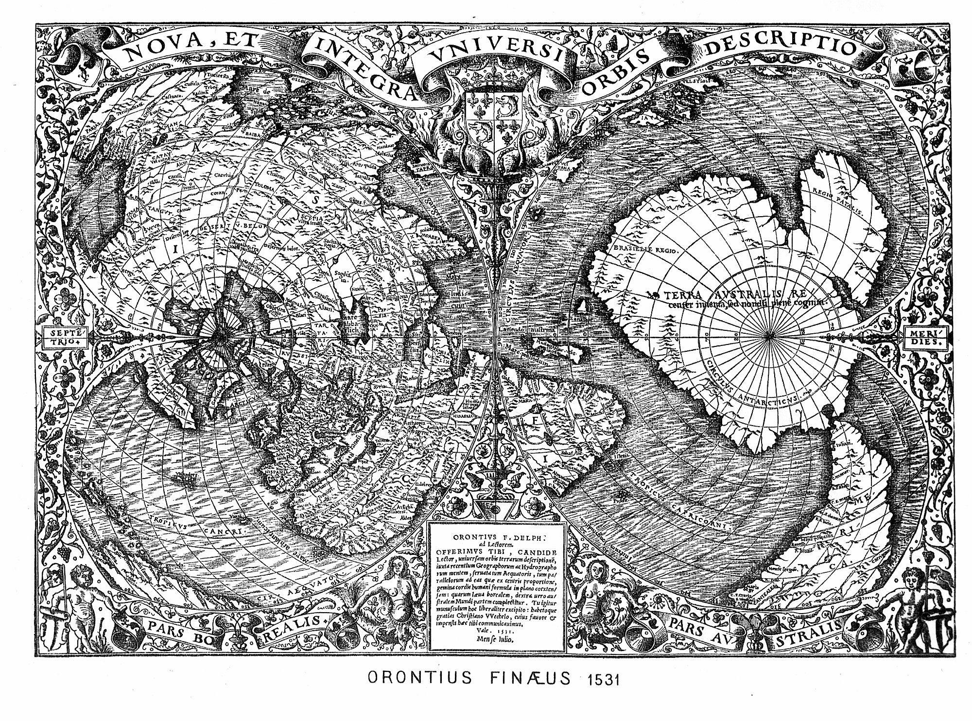 9000 ans avant J.C. une comète chute sur la Terre. Oronce_Fine_1531