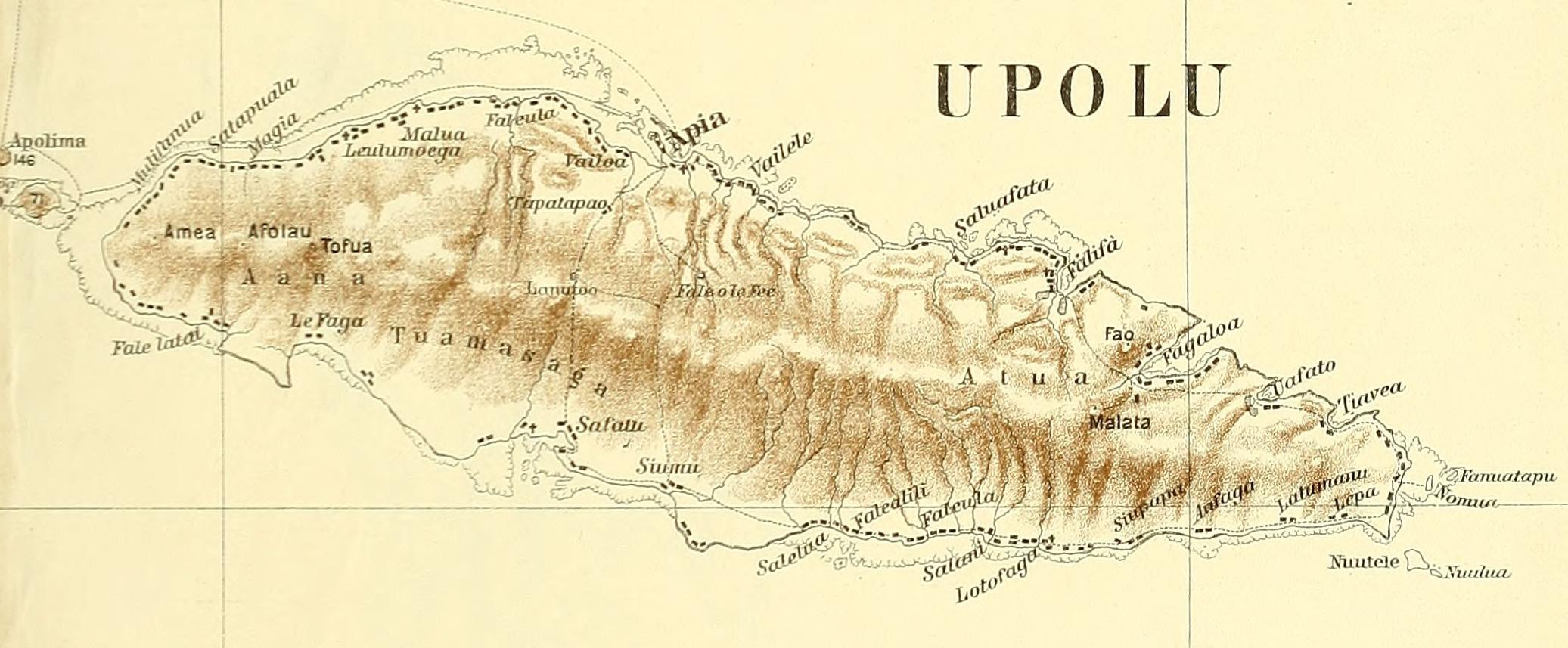 filepeip1910 map of upolu island samoajpg