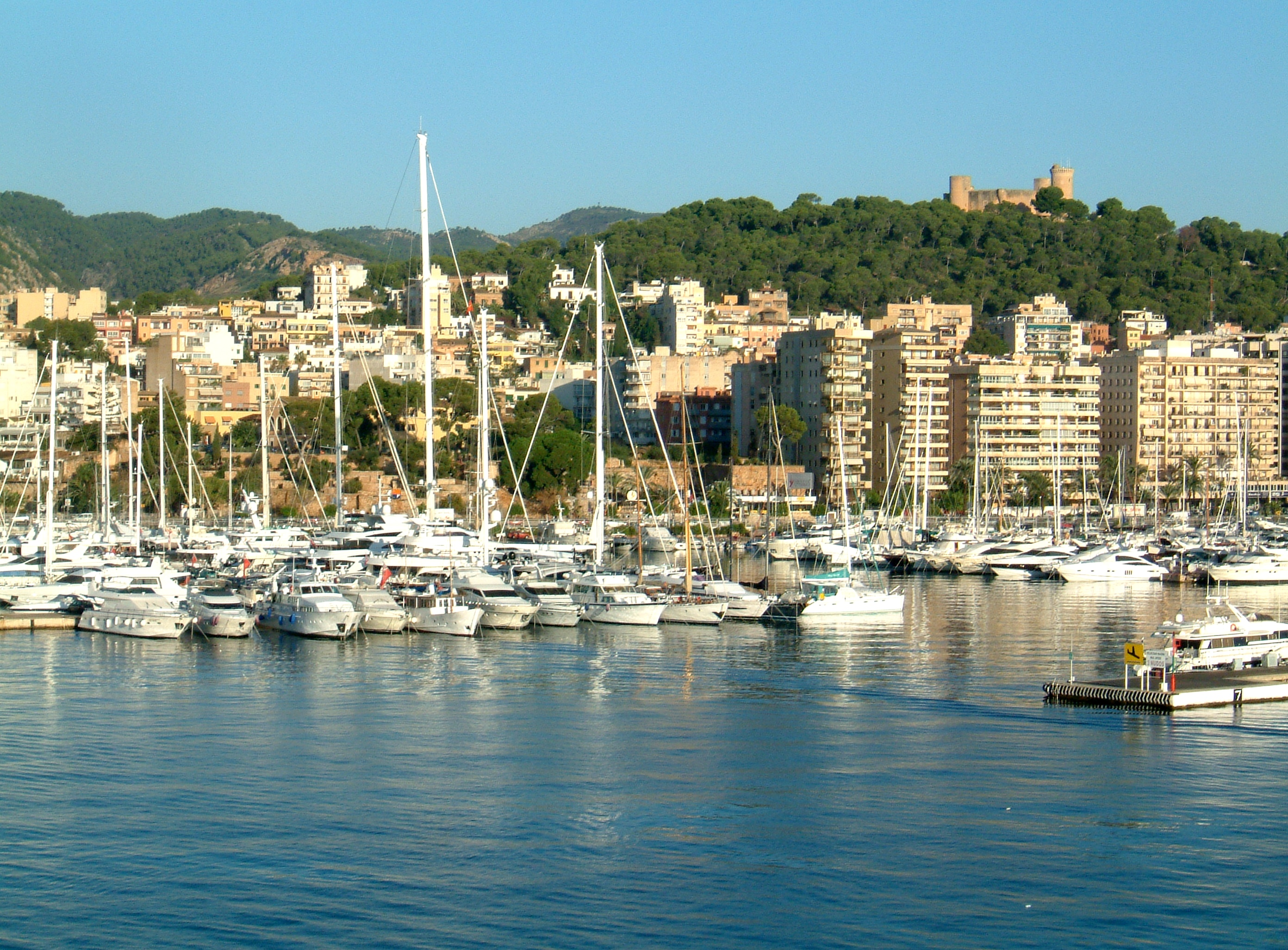 Harbour of Palma, located within the bay.