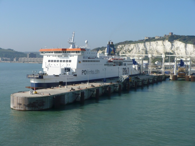 PandO ferry at Eastern Dock, Dover - geograph.org.uk - 587641