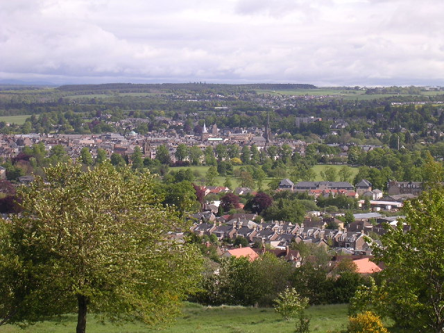 Perth from the transmitter on Craigie Hill - geograph.org.uk - 12100