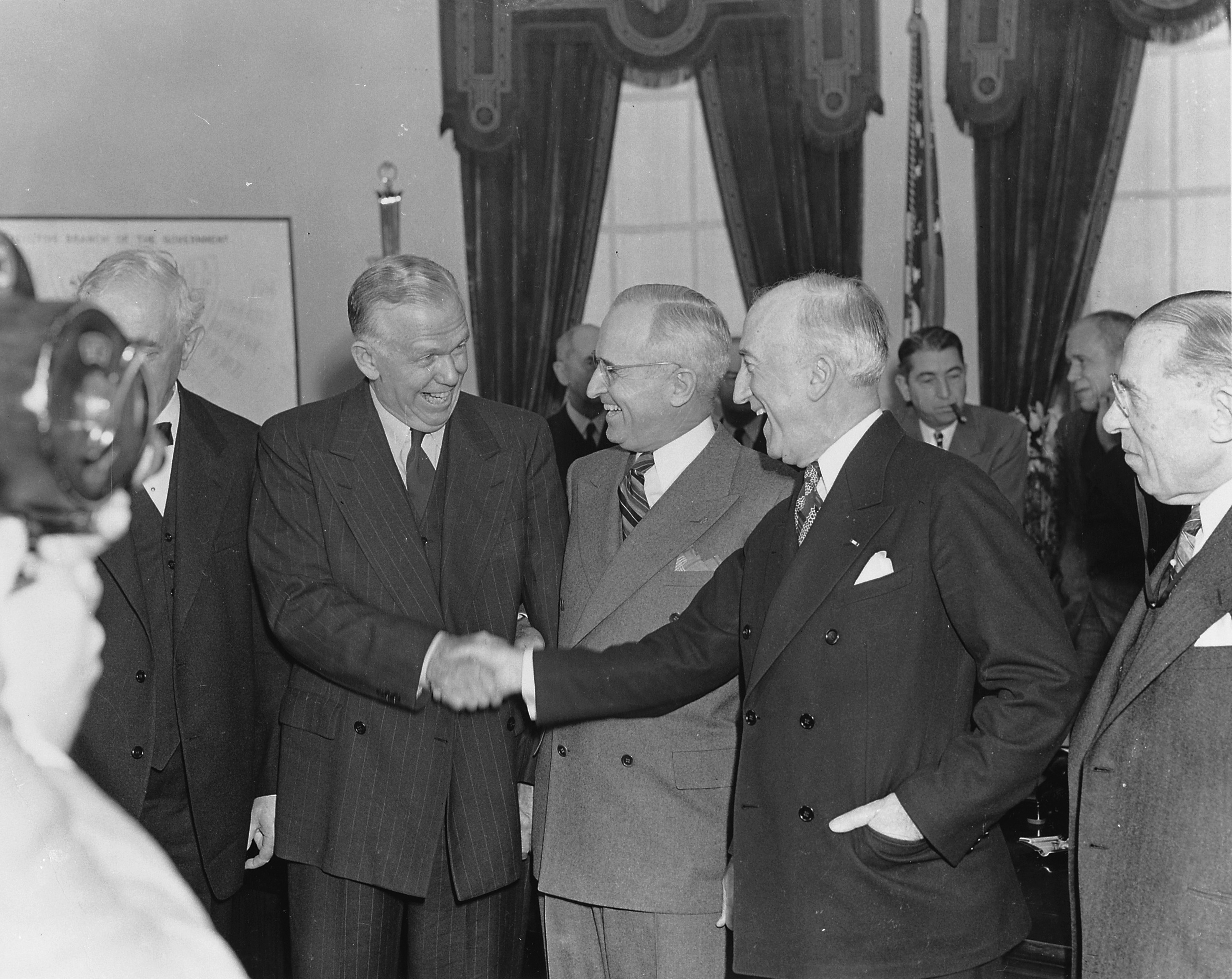 File:Photograph of George C. Marshall shaking hands with ... Predecessor