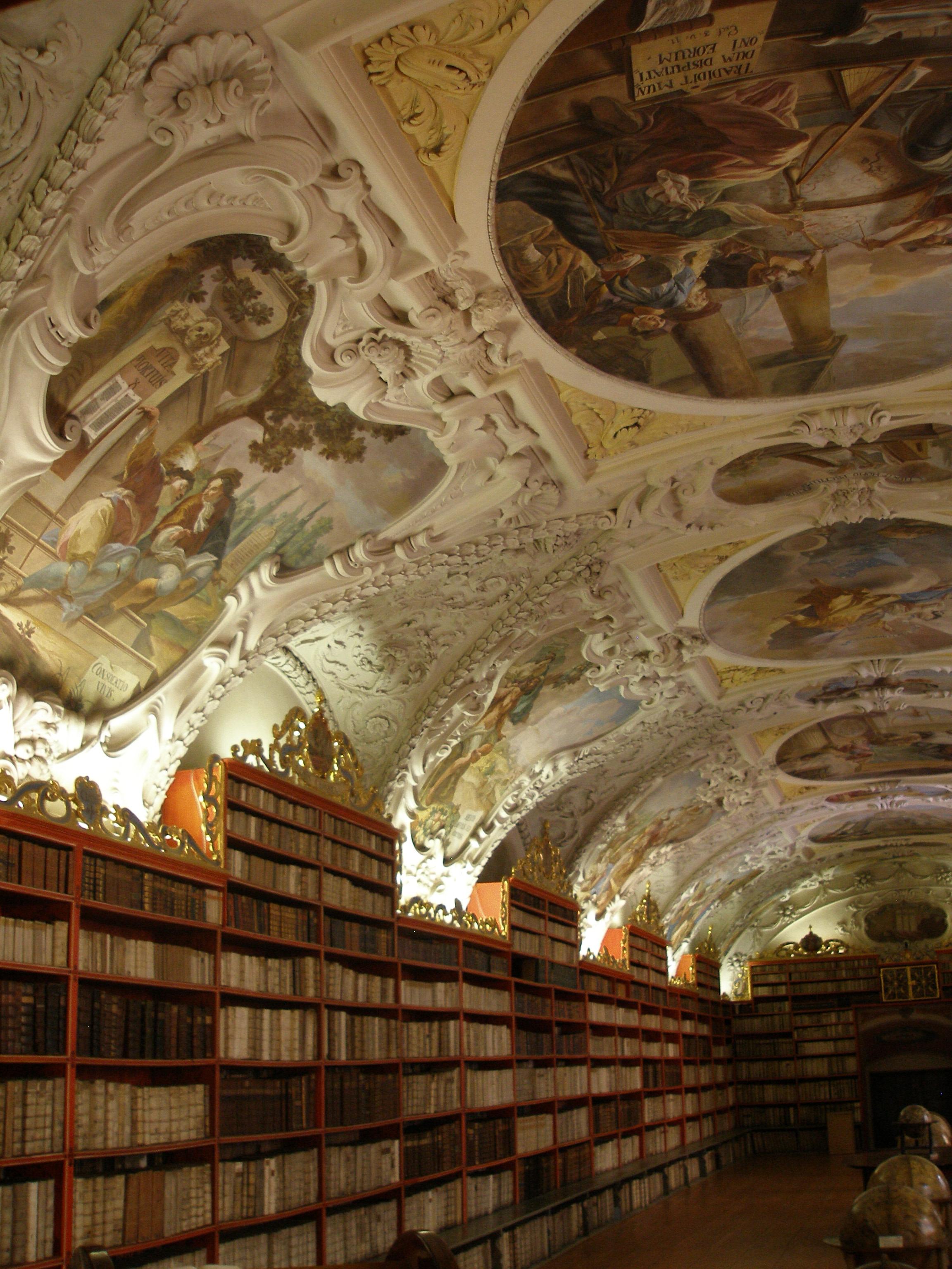 Strahov Monastery Library, Prague saec. XVIII  Foto: Klaus Graf