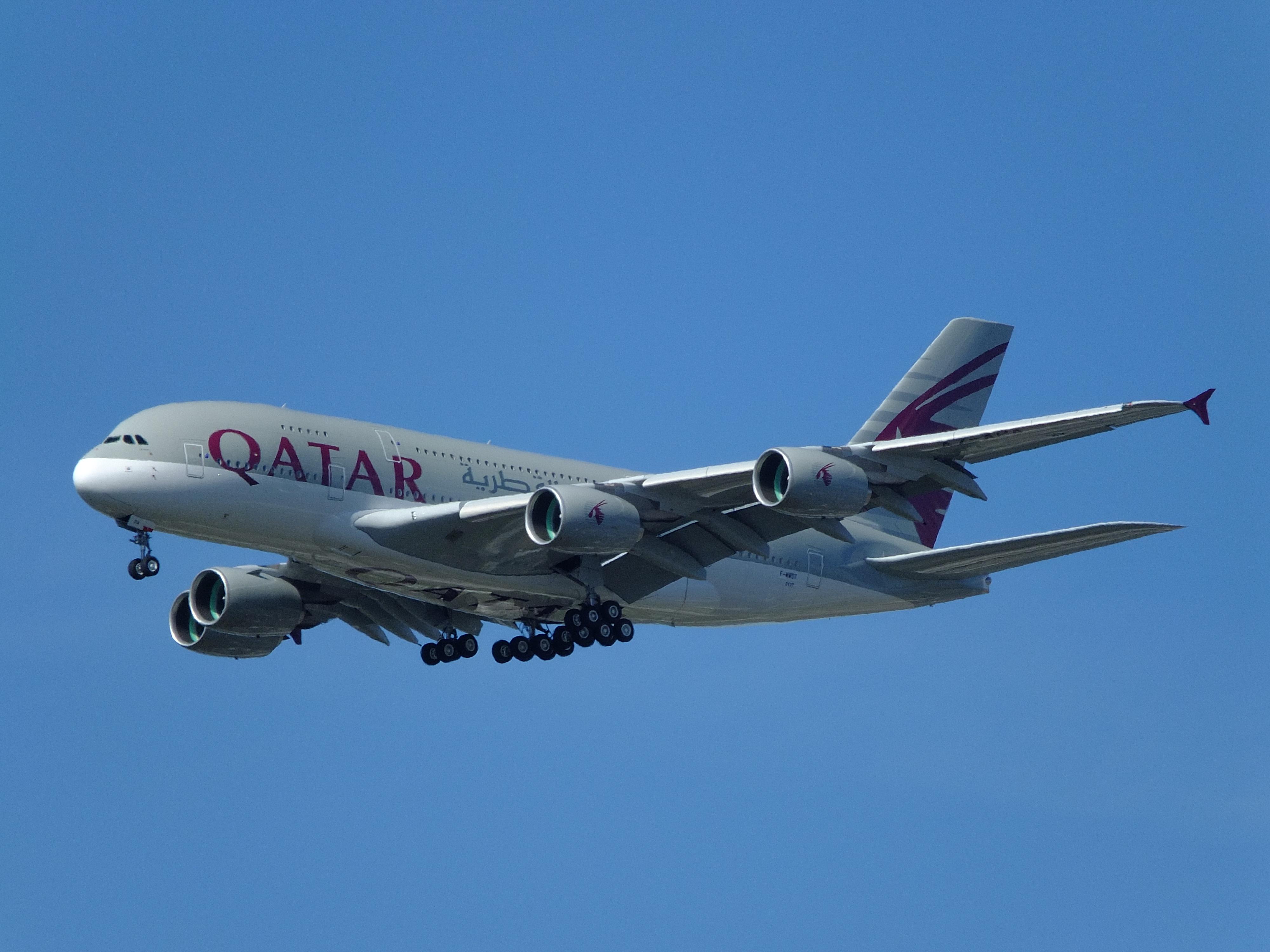 Airbus A380-800 der Qatar Airways