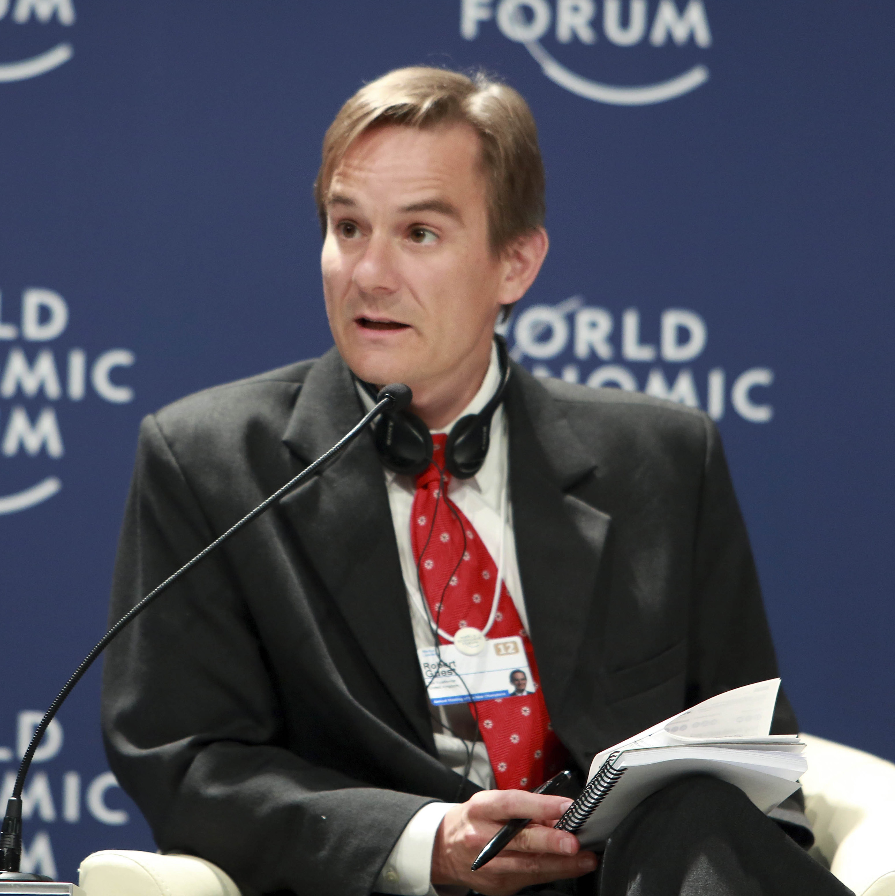 Robert Guest at the [[World Economic Forum