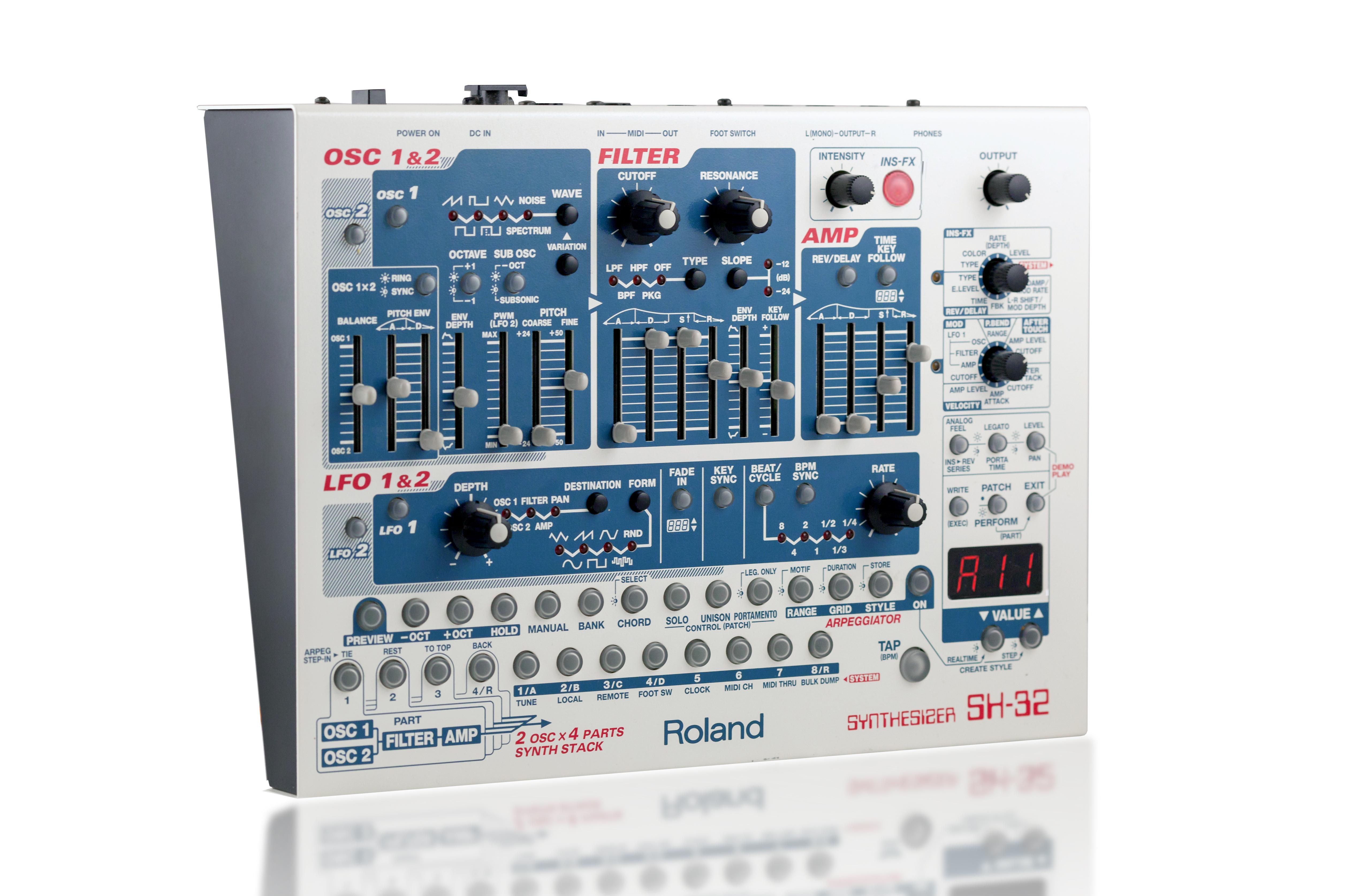 roland aira sh-2 plug-out pg-sh2-r