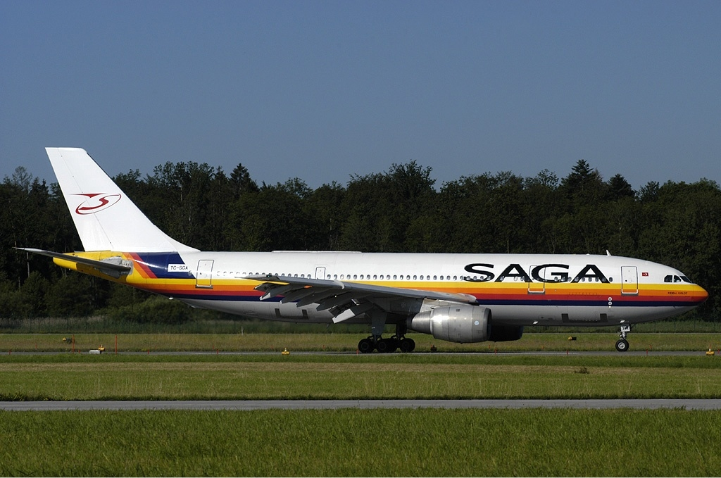 Avion Saga Airlines (Saga Airlines). Sayt.2 officiel