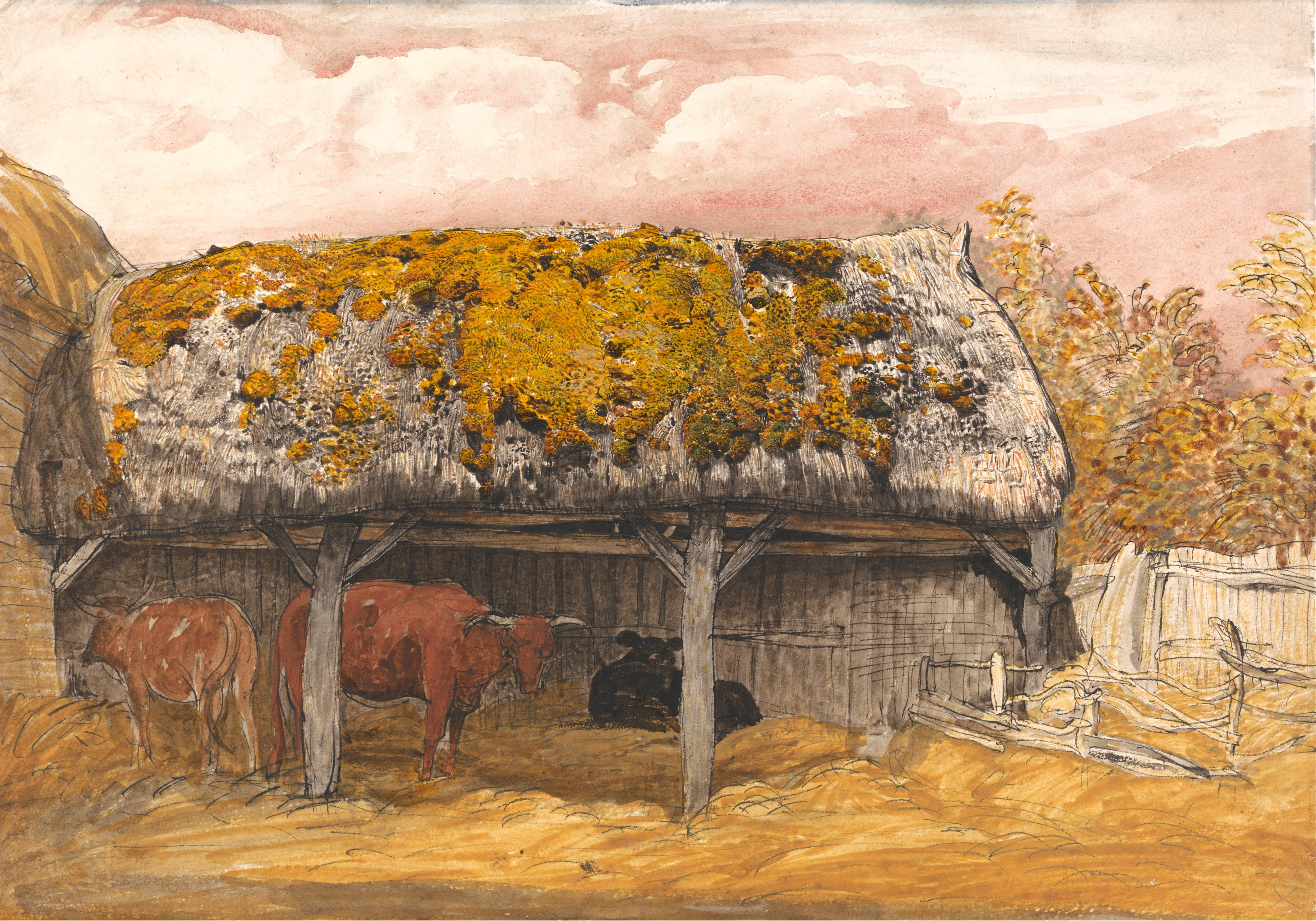 File Samuel Palmer A Cow Lodge With A Mossy Roof