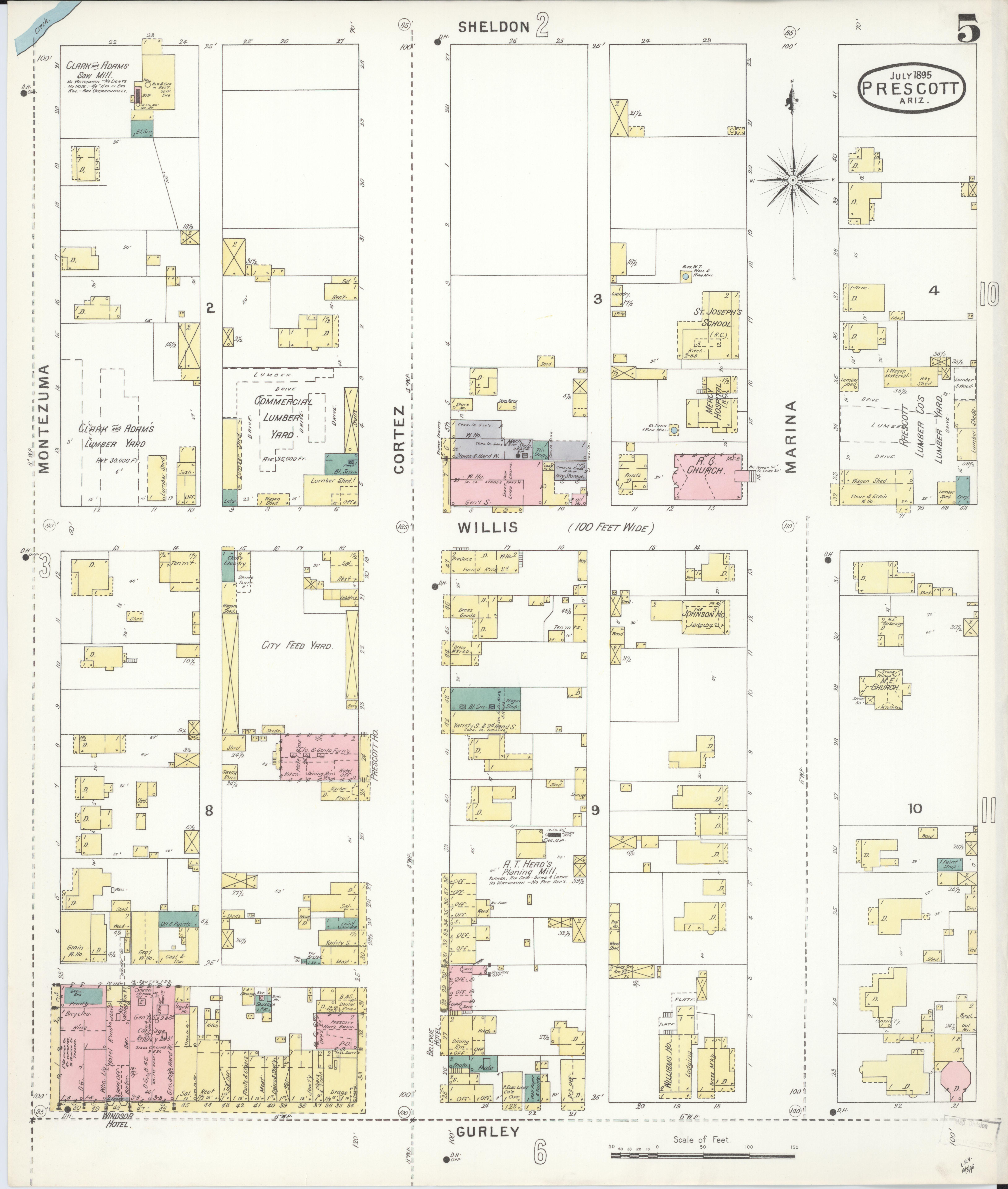 File Sanborn Fire Insurance Map From Prescott Yavapai County