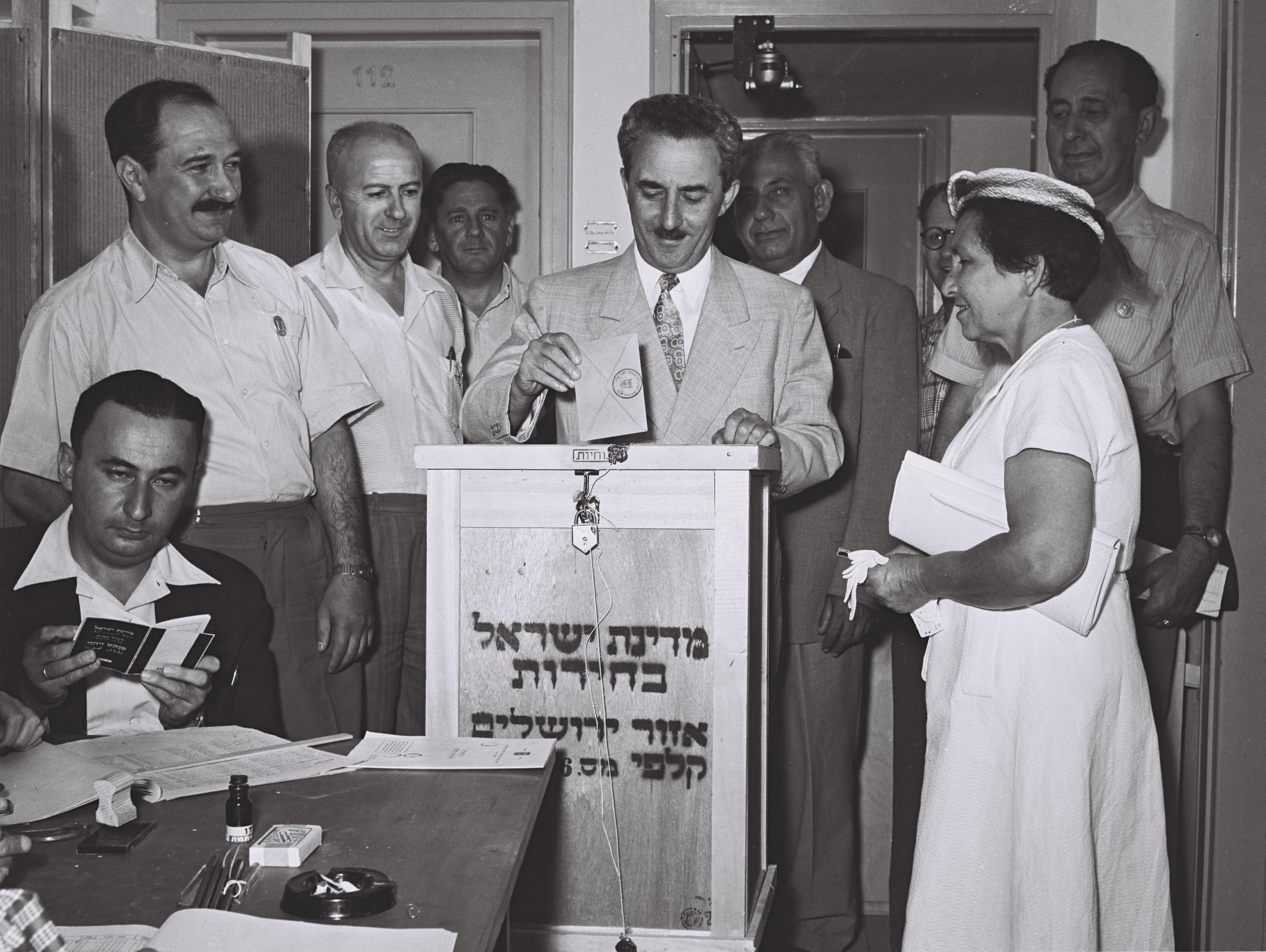 משה שרת בבחירות 1955