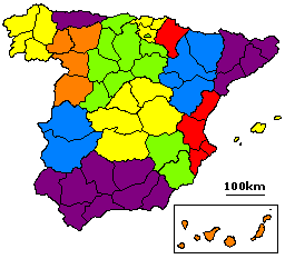 Mapa De Provincias Españolas.Provincia Espana Wikipedia La Enciclopedia Libre