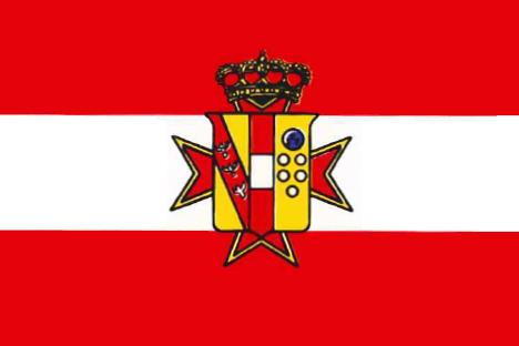 Archivo: Bandera Estado sencilla del Gran Ducado de Tuscany.PNG