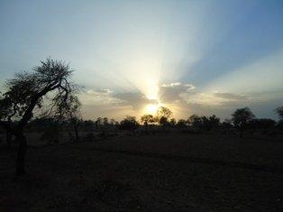 English: sun rise