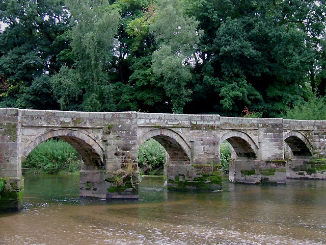 The Essex Bridge (part) at Shugborough, Staffordshire - geograph.org.uk - 1193522
