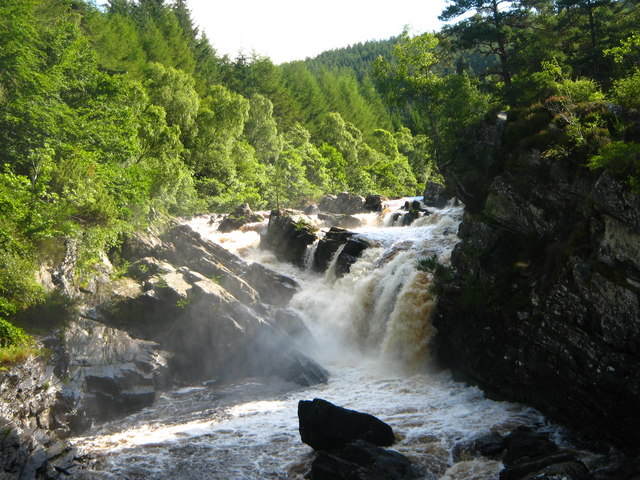 The Falls of Rogie. - geograph.org.uk - 1020481