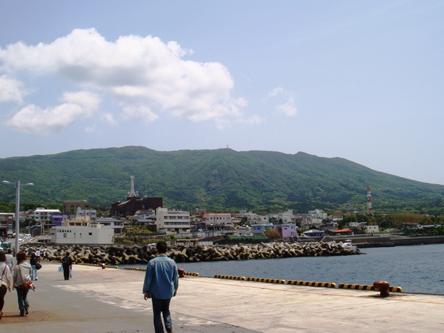 View from the Motomachi Port, Izu Oshima, Tokyo, Japan