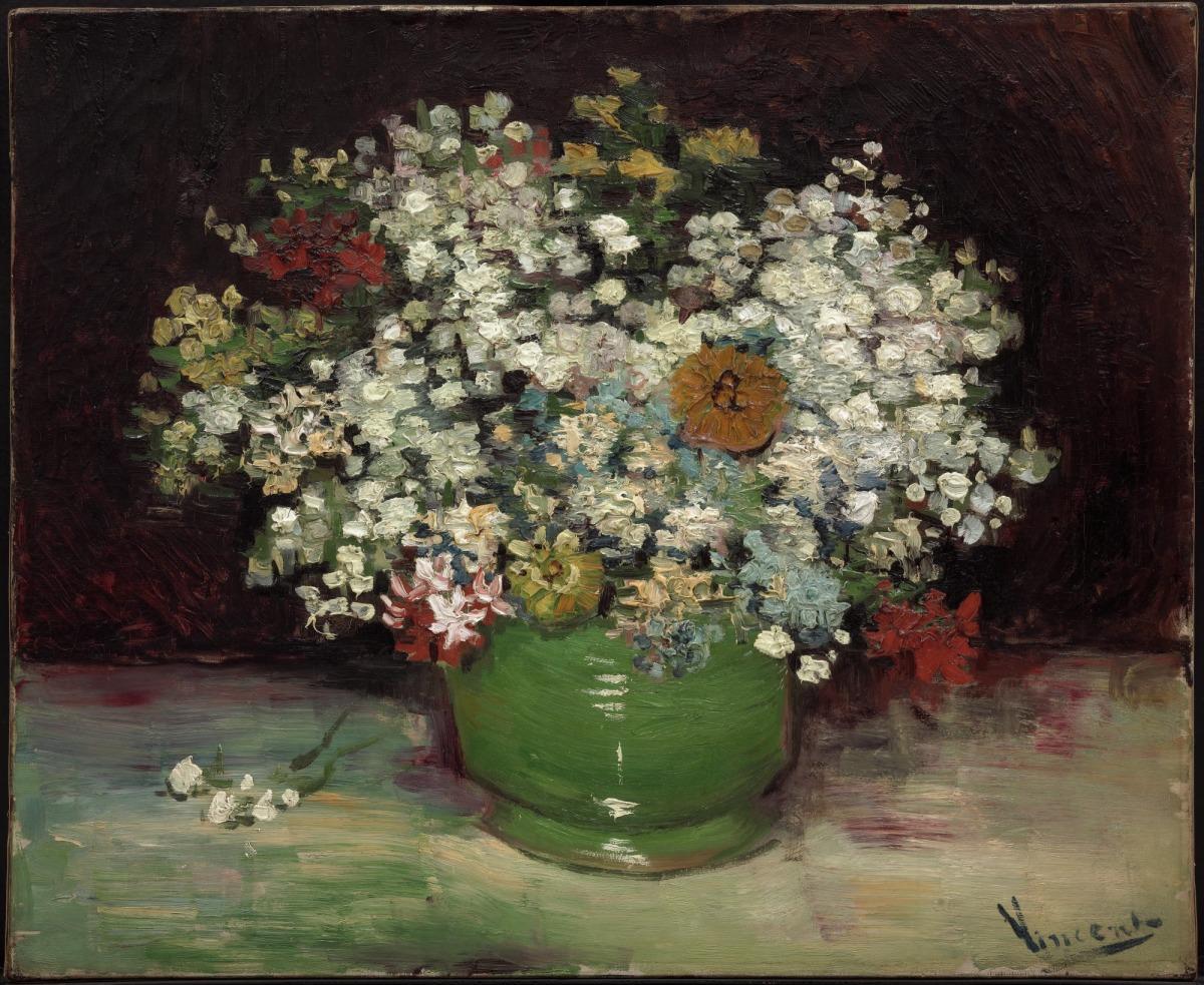 file vincent van gogh zinnias et autres fleurs dans un vase 1886 mus e des beaux arts du. Black Bedroom Furniture Sets. Home Design Ideas