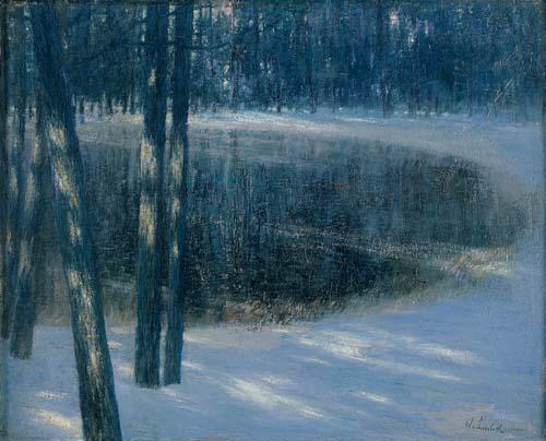 Walter Leistikow - Jezioro leśne w zimie (1892)