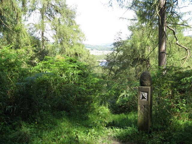 Woodland Marker above Rivelin Dams - geograph.org.uk - 1438485