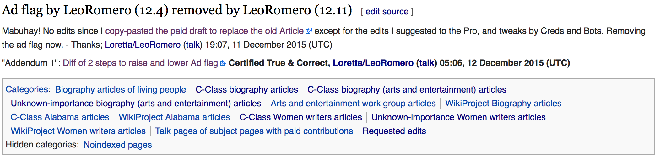 Does wikipedia have professional editors?
