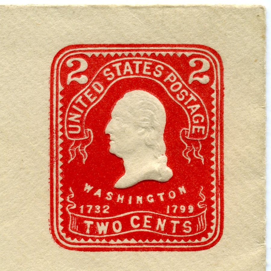 File1903 US Stamped Envelope 2cent