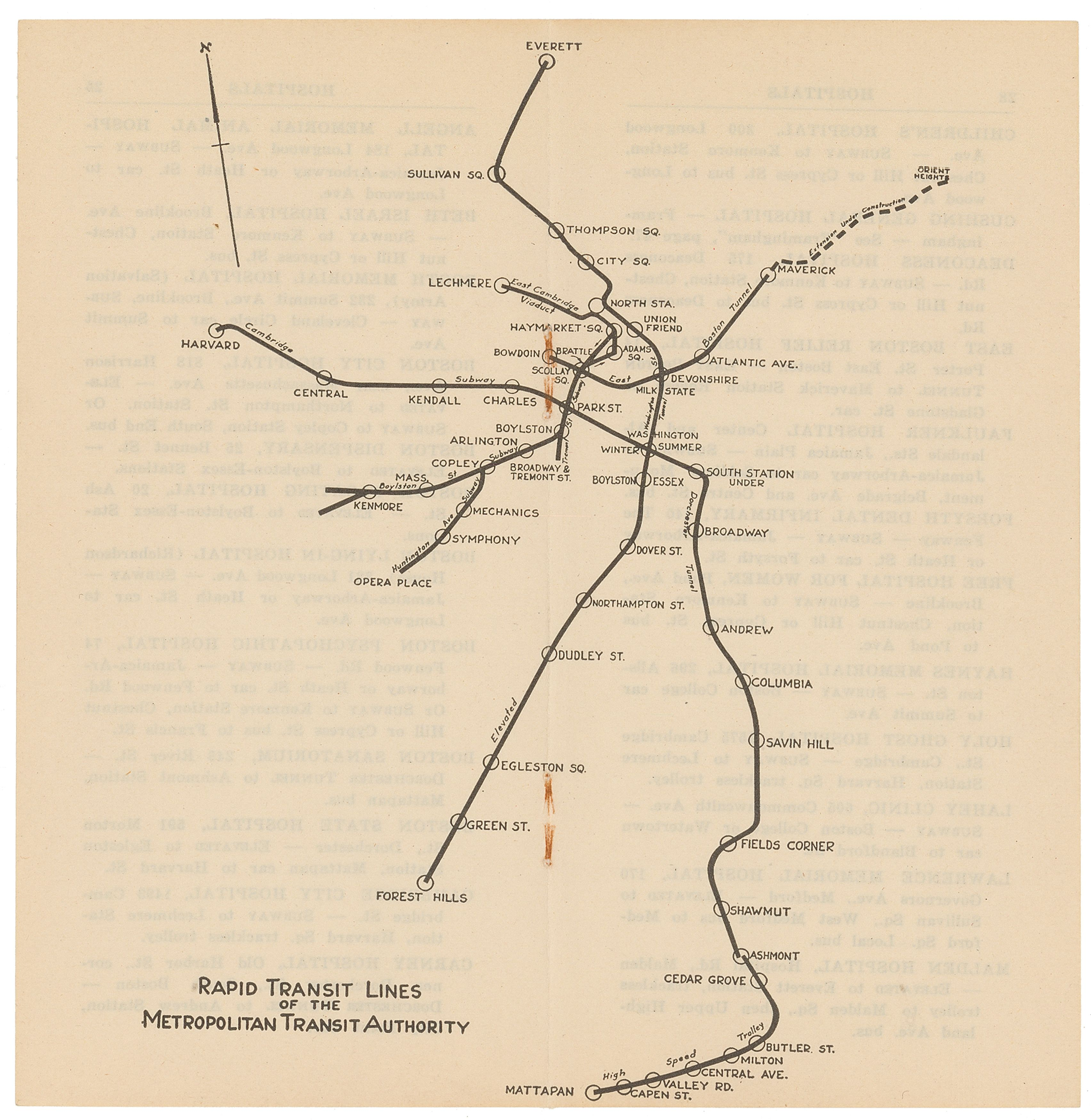 Subway Map In Boston.File 1950 M T A Subway Map Png Wikimedia Commons