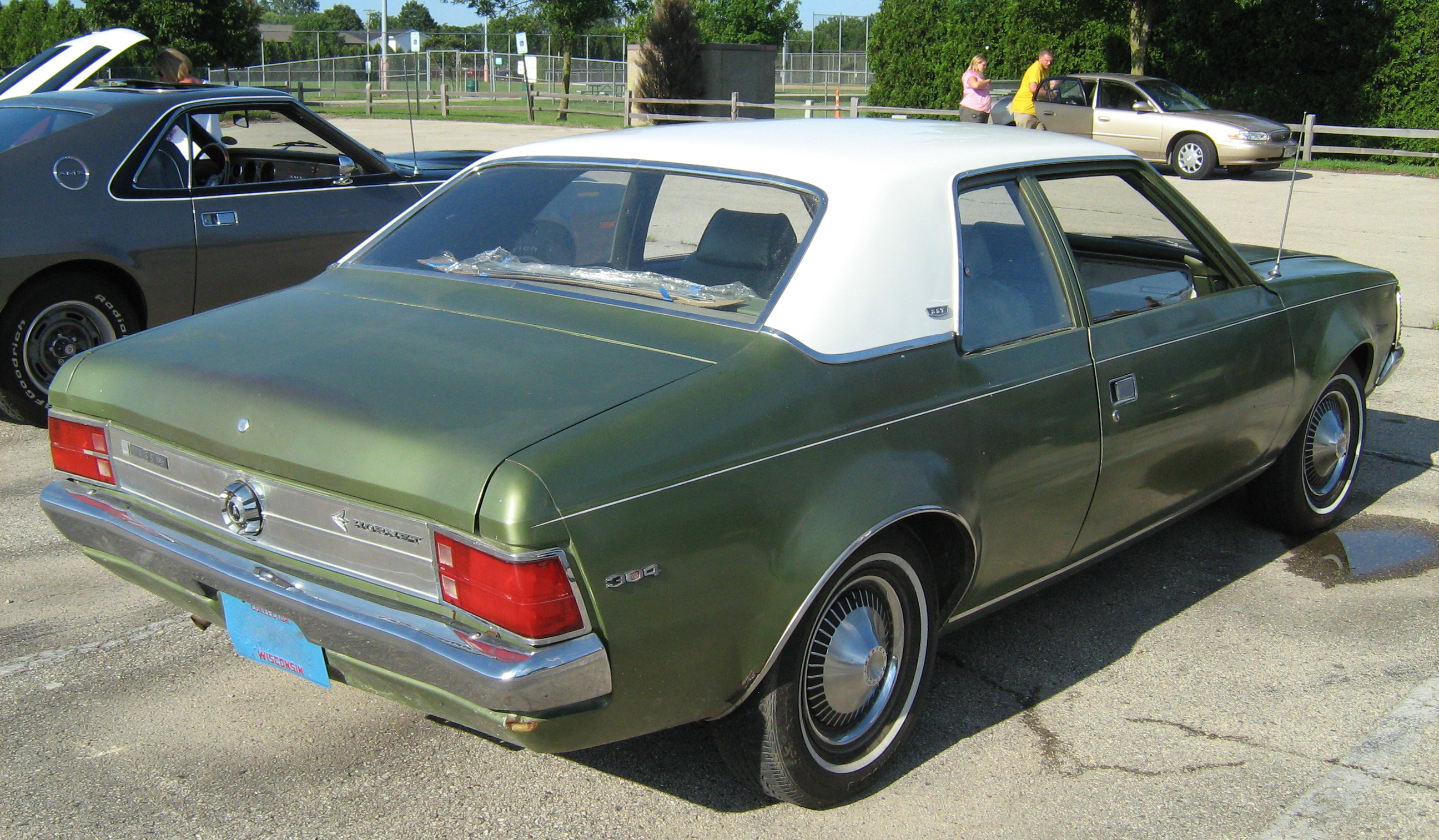 File 1970 Amc Hornet Sst 2 Door Green Kenosha R Jpg