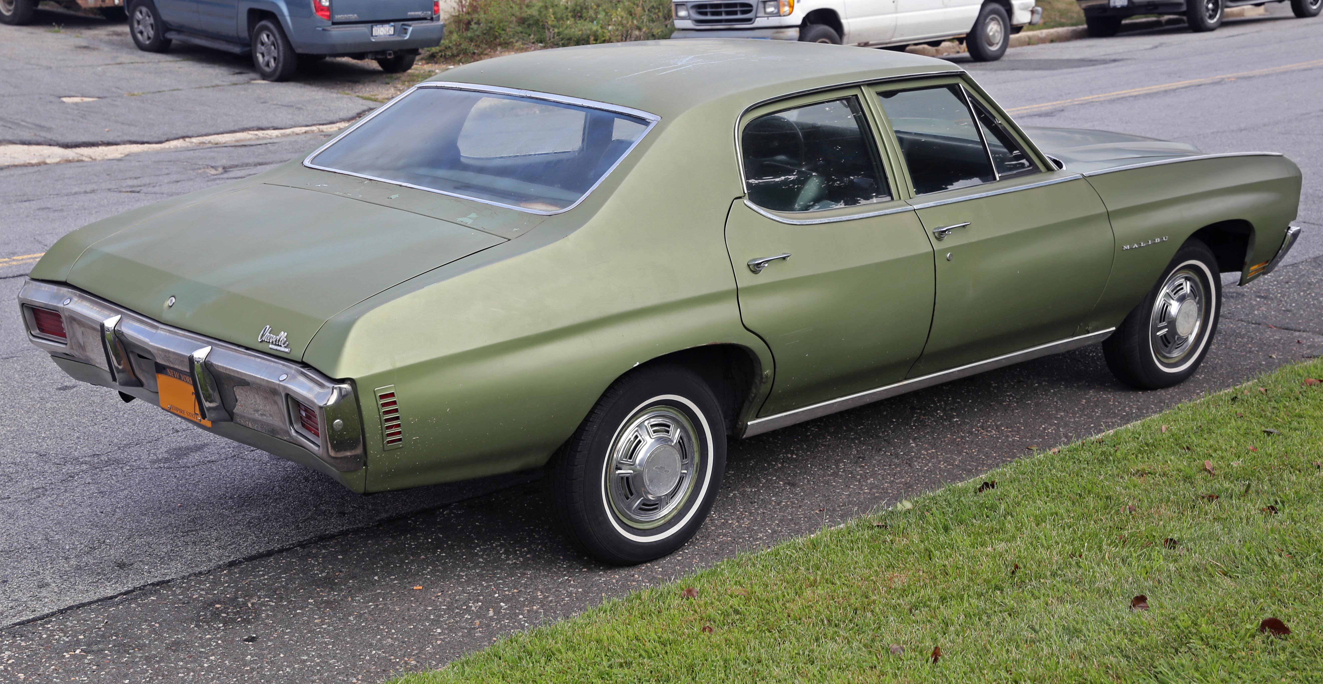 File:1970 Chevrolet Chevelle Malibu 4-dr, rear right.jpg - Wikimedia Commons