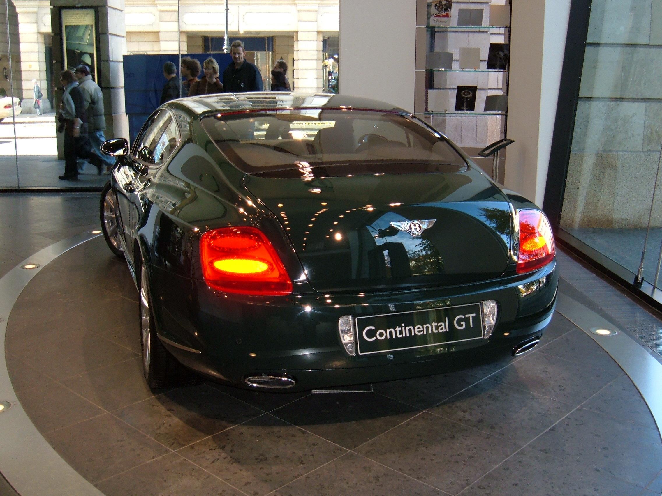 File 2005 Green Bentley Continental Gt Rear Jpg
