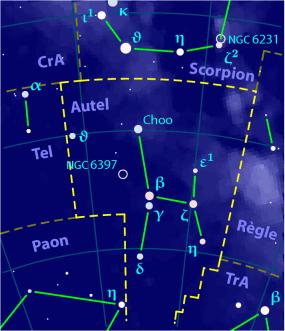 description Carte pour la constellation Autel Produite à l'aide du logiciel PP3 - Orthogaffe / Korrigan - Wikimedia Commons